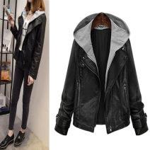 Women's large Autumn of 2018 black Large XL, large XXL, large XXL, large XXXXL, large XXXXL leather clothing PU