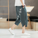 Casual pants Others Youth fashion Black, dark gray, Navy, gray blue, a007-t126-p25 white, a007-t126-p25 black, a007-t126-p25 coffee, a007-t126-p25 beige M,L,XL,2XL,3XL,4XL,5XL thin Cropped Trousers Other leisure easy summer 2020 Cotton 100% No iron treatment