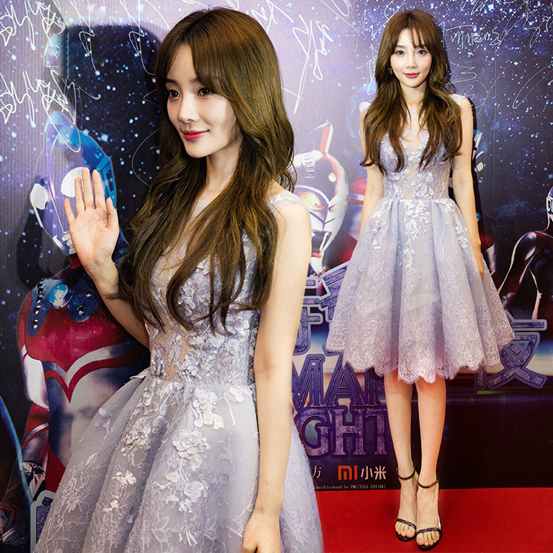 Dress / evening wear Weddings, adulthood parties, company annual meetings, daily appointments XXL S M L XL wathet Korean version Short skirt Skirt hem
