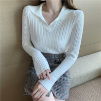 Wool knitwear Autumn 2020 Average size Long sleeves singleton  Socket other 31% (inclusive) - 50% (inclusive) routine commute Self cultivation Polo collar Solid color Socket Korean version 18-24 years old