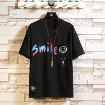 T-shirt Youth fashion 1811 black 1811 gray 1811 white 1812 black 1812 white 1812 gray 1813 black 1813 white 1813 gray 1813 blue routine XXL XXXL M L XL Nordic Wolf Short sleeve Crew neck easy Other leisure summer BOL-TX18110 Cotton 100% youth routine tide Cotton wool Summer 2021 Alphanumeric printing