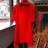 Dress Autumn 2020 White, red XS,S,M,L,XL