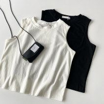 Vest sling polyester fiber Polyethylene terephthalate (polyester) 100% Pure e-commerce (online sales only) Summer 2021 routine singleton  Straight tube commute I-shaped 18-24 years old Solid color 96% and above K050314 VV combination White black S M L