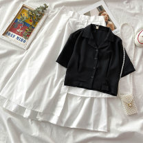 Fashion suit Spring 2021 S M L XL average size Shirt and skirt 18-25 years old VV combination 1.11Y-15 Other 100% Pure e-commerce (online only)