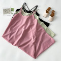 Dress Summer 2021 Pink Black Green Average size Mid length dress singleton  Sleeveless commute Crew neck High waist Solid color Socket A-line skirt other camisole 18-24 years old Type A VV combination Korean version Frenulum 03.22-11-C More than 95% Chiffon polyester fiber Polyester 100%