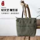 Shopping bag / environmental protection bag Vertical medium White black army green simple yes middle age Solid color ODB-257 no travel