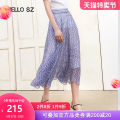 skirt Summer 2020 155/64A/S 160/68A/M 165/72A/L 170/76A/XL Blue flower Mid length dress commute Natural waist Irregular Decor Type A 30-34 years old More than 95% Beloan polyester fiber Asymmetrical stitching cloth Ol style Polyester 100% Same model in shopping mall (sold online and offline)