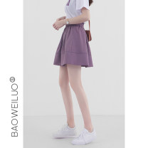 skirt Summer 2020 S M L XL Taro Purple Black New Black Short skirt Versatile High waist Pleated skirt Solid color Type A 18-24 years old E20061 More than 95% Pavillo polyester fiber Polyester 100% Pure e-commerce (online only)