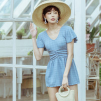 one piece  BEDIS M,L,XL blue Skirt one piece With chest pad without steel support other female Short sleeve