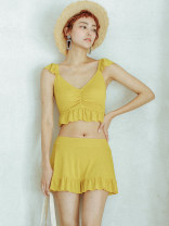 Bikini W yellow M,L,XL Skirt bikini With chest pad without steel support Spandex, others