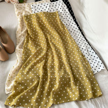 skirt Summer 2021 Average size White black yellow apricot Mid length dress commute High waist A-line skirt Dot Type A 18-24 years old L-0318-02 More than 95% Coshehkg / Qiao line other zipper Korean version Other 100% Pure e-commerce (online only)