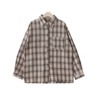 shirt Blue cotton blended spot, white cotton blended spot, black cotton blended spot Average size Autumn 2020 cotton 30% and below Long sleeves commute Medium length Polo collar Single row multi button routine lattice 18-24 years old Straight cylinder Korean version Pocket, button