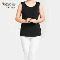 Middle aged and old women's wear Summer 2017 black fashion Vest / Sling / bra easy singleton  Solid color 40-49 years old Socket thin Crew neck routine BX Origa other Other 100% 96% and above Pure e-commerce (online only)