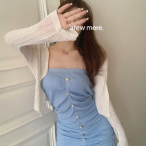 Fashion suit Summer 2021 Average size White knitting skirt, black knitting skirt, pink knitting skirt, blue knitting skirt, white cardigan, blue cardigan 18-25 years old Other / other 51% (inclusive) - 70% (inclusive)