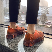 canvas shoe 39 40 41 42 43 44 Frenulum Low Gang Flat heel spring and autumn Korean version cloth rubber increase Solid color Adhesive shoes Youth (18-40 years old) without wearing make-up Spring of 2019 Pure e-commerce (online only) cloth