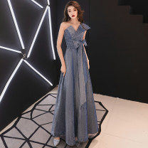 Dress / evening wear Fate Other 100% Pure e-commerce (online sales only) Weddings, adulthood parties, company annual meetings, daily appointments longuette Self cultivation Spring of 2019 Sleeveless Korean version middle-waisted Single shoulder type zipper YY775 18-25 years old other Solid color