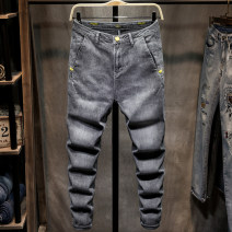 Jeans Youth fashion Binqi Wolf 28 29 30 31 32 33 34 36 511 510 routine Micro bomb Cotton elastic denim trousers Cotton 67% polyester 16.5% polyurethane elastic 1.5% others 15% spring youth middle-waisted Slim feet tide 2020 Little straight foot zipper Water wash stone wash / stone mill enzyme wash