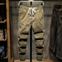 Casual pants Binqi Wolf Youth fashion Camel yellow dark grey light grey black army green 28 29 30 31 32 33 34 36 38 40 42 routine trousers Travel? easy Micro bomb spring youth Youthful vigor 2020 middle-waisted Little feet Cotton 98% polyurethane elastic fiber (spandex) 2% Haren pants washing other