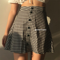 skirt Summer of 2018 XS,S,M,L Beige Haige Short skirt High waist