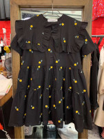 Dress Summer 2021 black S,M,L,XL Mid length dress singleton  Short sleeve commute Doll Collar High waist Socket other routine 18-24 years old Korean version 51% (inclusive) - 70% (inclusive) other other