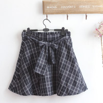 skirt Summer 2021 Average size Pink, Navy Short skirt Sweet Natural waist A-line skirt lattice Type A 18-24 years old More than 95% Other / other cotton Frenulum 161g / m ^ 2 (including) - 180g / m ^ 2 (including) college