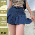 skirt Summer 2020 S,M,L Blue, light blue, pink, set meal 1, set meal 2 Short skirt High waist Solid color Type A 18-24 years old HGD3631V0F 91% (inclusive) - 95% (inclusive) cotton