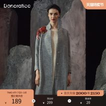 woolen coat Winter of 2018 XS S M L XL XXL Wisekaqi H41 autumn velvet grey I32 March green f49 wool 95% and above have more cash than can be accounted for Long sleeves commute Single breasted routine Straight cylinder Retro R4DDY1086 Donoratico/ danyan 30-34 years old Embroidery Solid color Wool 100%