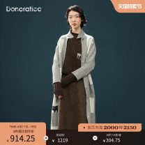 short coat Autumn of 2018 XS S M L XL XXL Long sleeves routine routine singleton  Straight cylinder routine stand collar Single breasted shape 25-29 years old Donoratico/ danyan 96% and above printing wool wool Wool 100% Same model in shopping mall (sold online and offline)