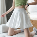 skirt Summer 2021 S M L XL White black Short skirt Versatile Natural waist Fluffy skirt Solid color Type A 18-24 years old JY # eight hundred and sixty More than 95% Ji Yue other Other 100% Pure e-commerce (online only)