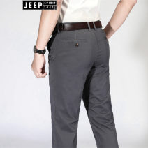 Casual pants Jeep / Jeep Business gentleman Khaki, grey, blue 30,31,32,33,34,35,36,38,40,42,44 thin trousers go to work Self cultivation get shot B605 summer youth Business Casual 2020 High waist Straight cylinder other Solid color cotton International brands