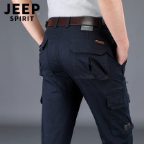 Casual pants Jeep / Jeep Fashion City 30, 31, 32, 33, 34, 35, 36, 38, 40, 42, 44 routine trousers Other leisure Straight cylinder Micro bomb spring youth Military brigade of tooling 2021 middle-waisted Straight cylinder Cotton 98% polyurethane elastic fiber (spandex) 2% Overalls pocket washing cotton