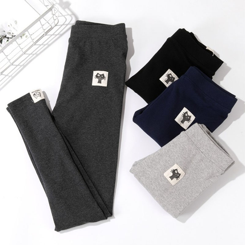 Leggings Autumn of 2018 Light grey black dark grey L (recommended 80-125 kg) XL (recommended 125-165 kg) routine Capris / Capris 18-24 years old pure cotton 91% (inclusive) - 95% (inclusive)