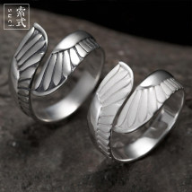 Ring / ring Silver ornaments 201-300 yuan Other / other Old style (please note ring number when shooting) sandblasting style (please note ring number when shooting) brand new goods in stock lovers 925 Silver