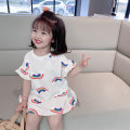 Dress white female Other / other 90cm,100cm,110cm,120cm,130cm Cotton 90% other 10% summer leisure time Short sleeve rainbow cotton A-line skirt Class A 3 months, 12 months, 6 months, 9 months, 18 months, 2 years old, 3 years old, 4 years old, 5 years old, 6 years old, 7 years old, 8 years old