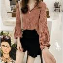 Women's large Summer 2020 Large XL, large XXL, large XXL, large XXXXL, large L, M shirt commute lattice Korean version Other / other 18-24 years old