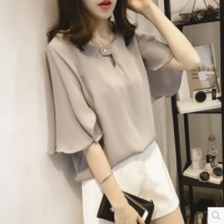 Women's large Summer of 2018 Grey, white, pink, decor pre-sale Big XL, big XXL, big XXXXL, big XXXXL, big one size fits all, big L, M moderate Socket Short sleeve routine routine Other / other