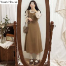 Fashion suit Autumn 2020 S,M,L,XL Apricot shirt + camel dress 18-25 years old Other / other