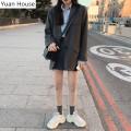 Fashion suit Autumn 2020 S,M,L,XL Grey suit, khaki suit, grey skirt, Khaki Skirt, grey suit + grey skirt, khaki suit + Khaki Skirt 18-25 years old 51% (inclusive) - 70% (inclusive) polyester fiber