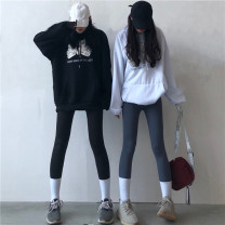 Leggings Spring 2021 Black thin, gray thin, black thickened, gray thickened Average size thickening trousers 18-24 years old other 81% (inclusive) - 90% (inclusive)