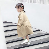 Plain coat Other / other female 80cm,90cm,100cm,110cm,120cm,130cm Picture color spring and autumn Korean version Single breasted There are models in the real shooting routine nothing Solid color cotton other RY992 Other 100% Class B
