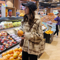 Sweater / sweater Autumn of 2019 Apricot, blue One size fits all, XXXs pre-sale Long sleeves routine Socket singleton  thickening Hood easy commute routine 18-24 years old 30% and below Other / other Korean version other