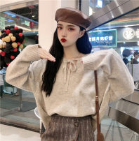 Wool knitwear Winter of 2019 One size fits all, XXXs pre-sale Apricot, camel Long sleeves singleton  Socket other 30% and below Regular routine commute Korean version 18-24 years old Other / other bow