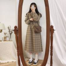 Dress Autumn of 2019 S. M, l, XL, XXXs pre-sale longuette singleton  Long sleeves commute Polo collar Others 18-24 years old Other / other Korean version 30% and below