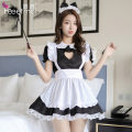 Fun suit Fei Mu Spandex polyester Maid's suit includes [hair hoop - Apron - dress] maid's suit includes [hair hoop - Apron - dress] + stockings maid's suit includes [hair hoop - Apron - dress] + stockings + feather racket Feimu lingerie 7065 other Maid's clothing Woven cloth Maid Dress