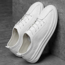 Low top shoes White (low side) black (low side) white (middle side) three hundred and ninety-four billion forty-one million four hundred and twenty-four thousand three hundred and forty-four Naibao Superfibria Elastic band Round head skate shoes No interior The trend of youth Sports & Leisure summer