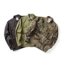 Jacket Other / other Youth fashion Army green, camouflage, carbon gray S,M,L,XL,2XL routine standard Other leisure winter Long sleeves Wear out square neck tide youth routine Single breasted 2019 Cloth hem washing camouflage More than two bags) Cover patch bag cotton 70% (inclusive) - 79% (inclusive)