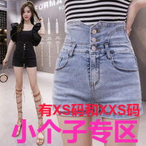 Jeans Summer 2021 Light blue, black Xs, s, m, l, XL, XXS for height 140-160 shorts High waist Wide legged trousers routine 18-24 years old other Zhenyaluo 96% and above