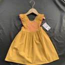 Dress yellow female Other / other 10 years old / 140 cm, 3 years old / 98 cm, 6 years old / 116 cm, 12 years old / 152 cm, 4 years old / 104 cm, 5 years old / 110 cm, 8 years old / 128 cm Cotton 100% summer princess Skirt / vest Solid color Pure cotton (100% cotton content) A-line skirt