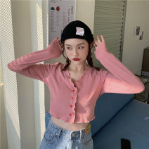 T-shirt Pink L【100-120】,XL【120-135】,XXL【135-150】,3XL【150-165】,4XL【165-180】 Spring 2021 Long sleeves other 51% (inclusive) - 70% (inclusive) Solid color