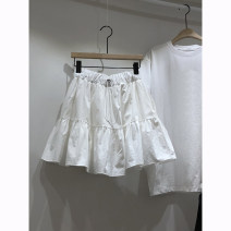 skirt Summer 2021 S,M,L,XL White, black Short skirt commute High waist Ruffle Skirt Solid color 18-24 years old 51% (inclusive) - 70% (inclusive) other Simplicity